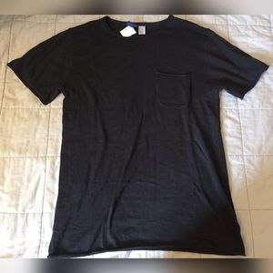 New short sleeve men's sweater cutoff shirt tee